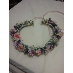 Diadema de flor natural