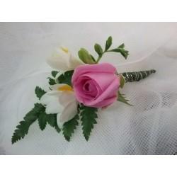 Flor de solapa aqua