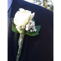 Prendido rosa blanca