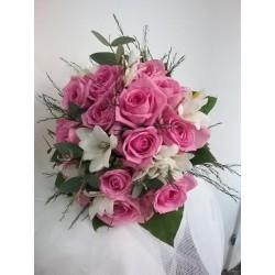 Bouquet novia rosas, aqua