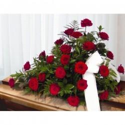 Centro funerario de rosas...