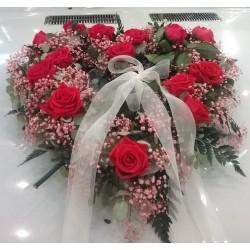 Corazón de flor natural